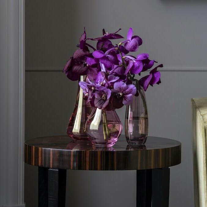 bloom - Pink Glass Stem Vase