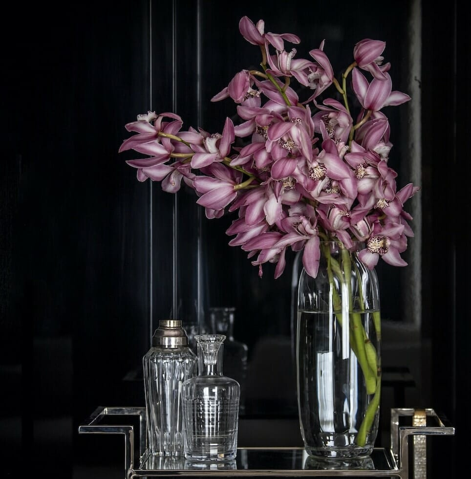 Bloom Flower Delivery | Tall Ribbed Glass Lily Vase