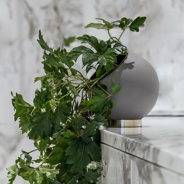 Bloom Flower Delivery | Taupe Grey Globe Plant Pot