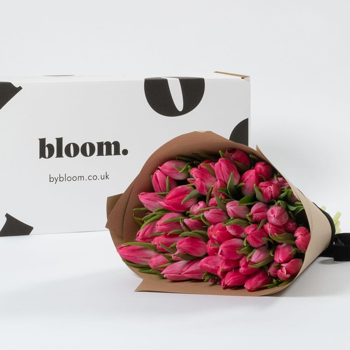 Bloom Flower Delivery | Cerise Pink Tulips