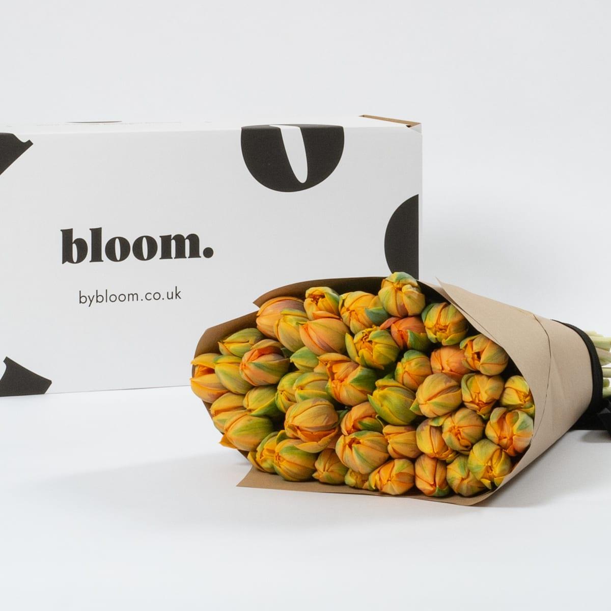 Bloom Flower Delivery | Tangerine Tulips