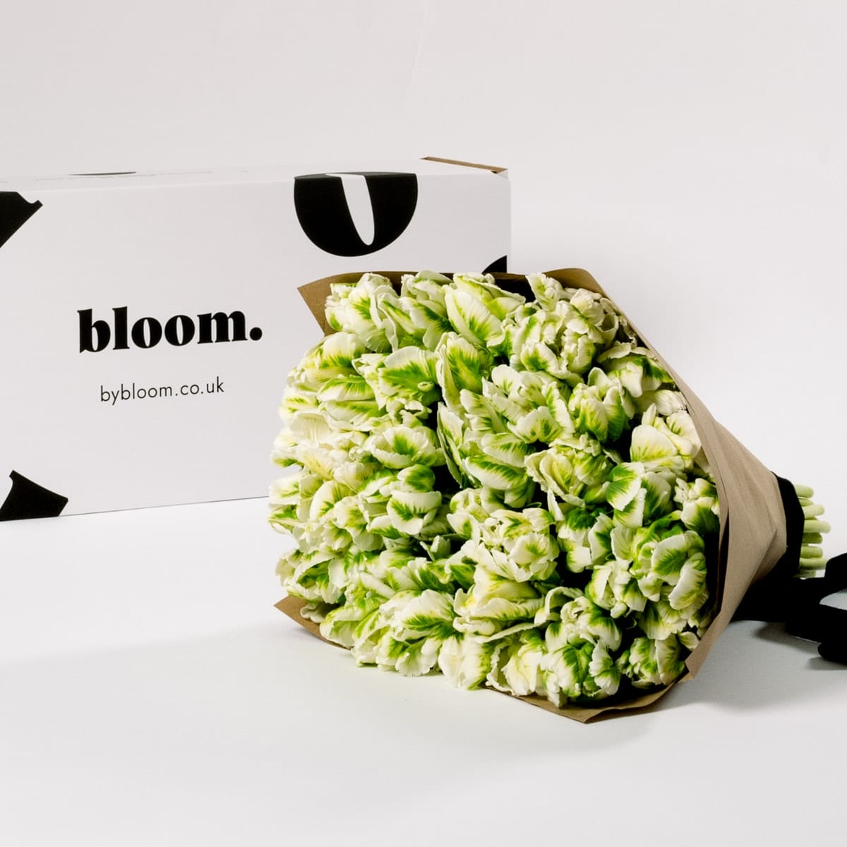 Bloom Flower Delivery | Green & White Parrot Tulips