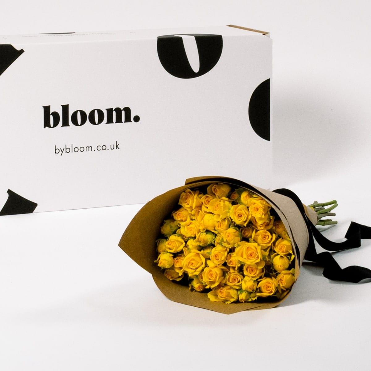 Bloom Flower Delivery | Lemon Zest Yellow Spray Roses