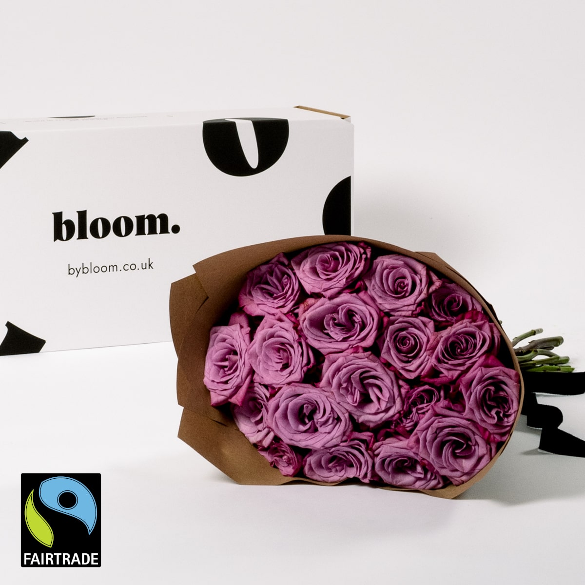 Bloom Flower Delivery | Fairtrade Muddled Grape Purple Roses