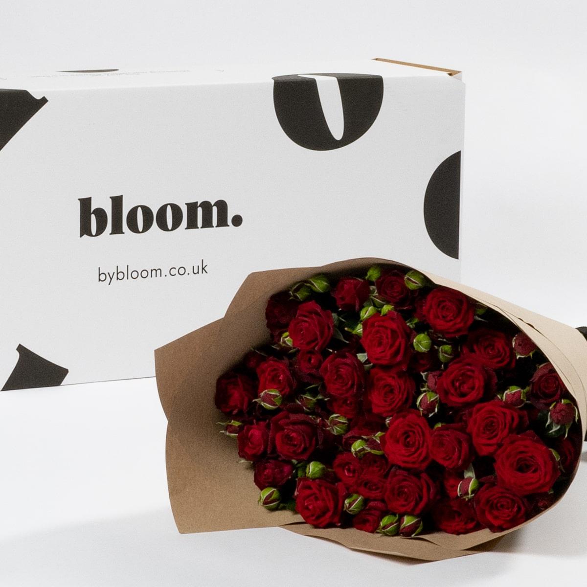 Bloom Flower Delivery | Merlot Red Spray Roses