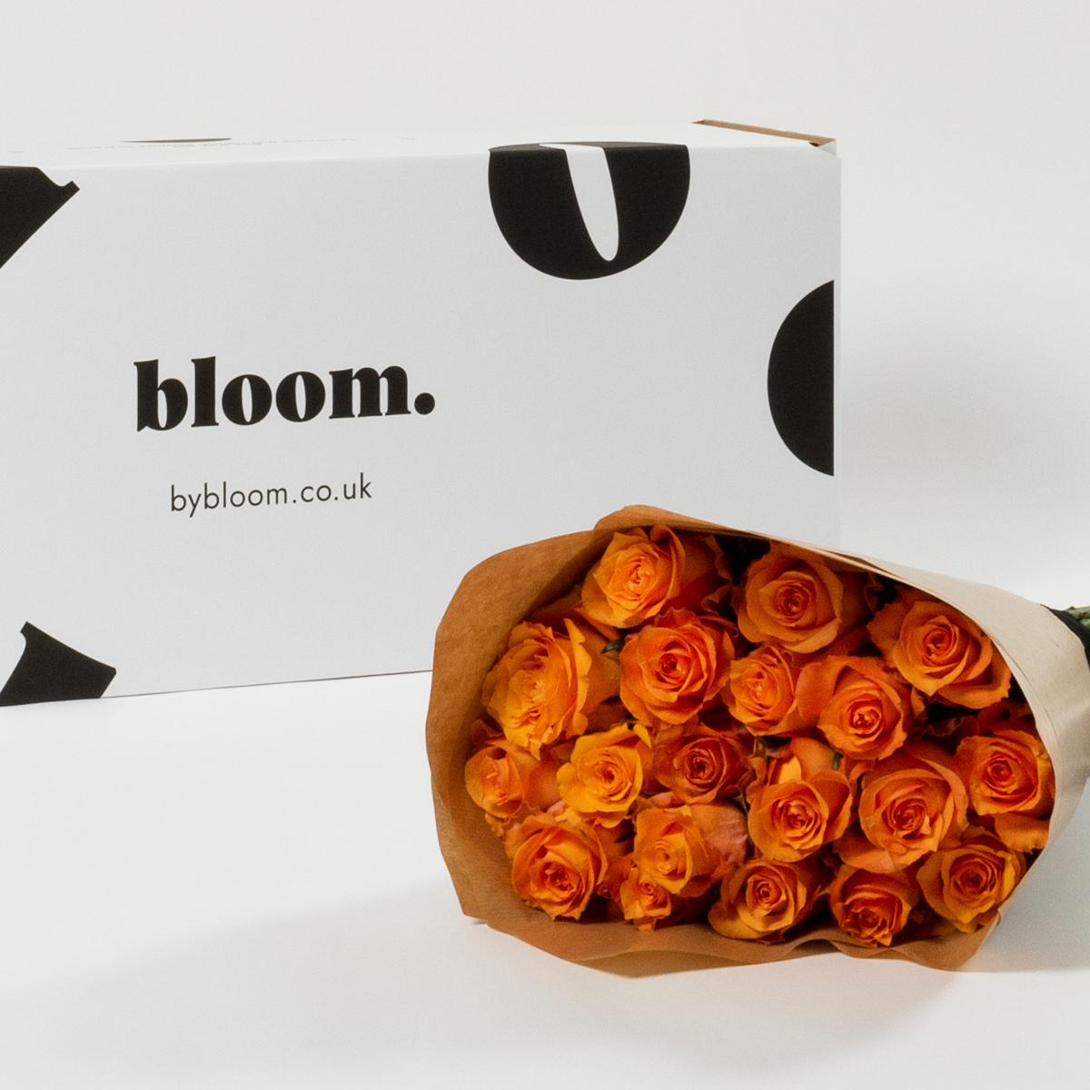 Bloom Flower Delivery | Tangerine Orange Rose