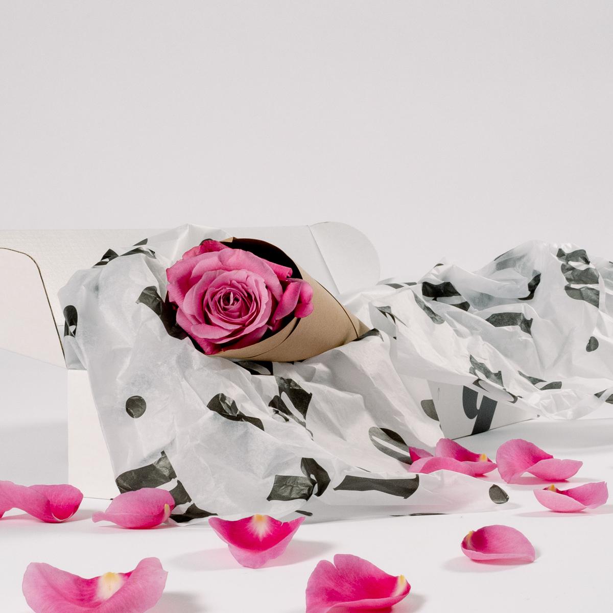 Bloom Flower Delivery | Single Stem Hot Pink Rose